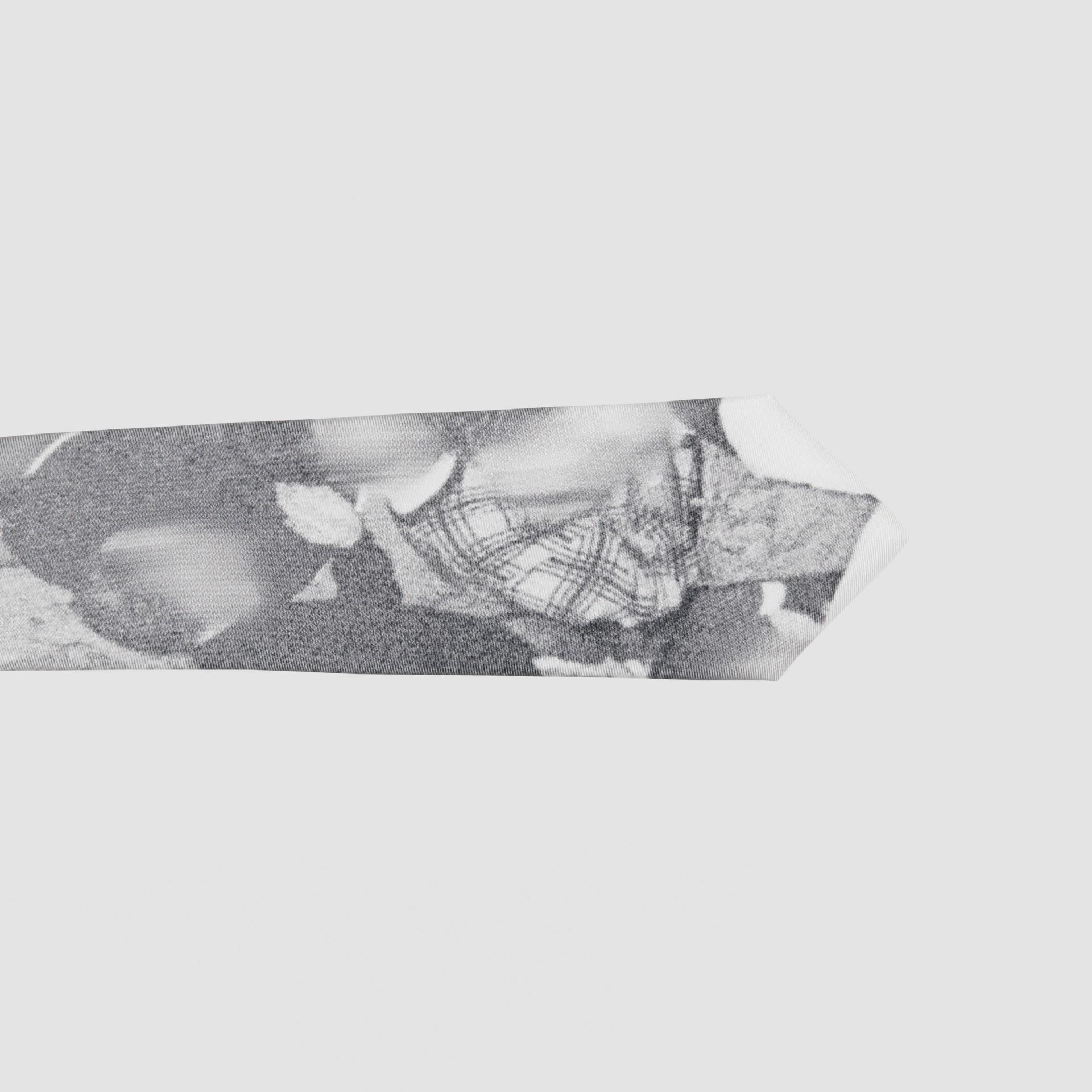 Classic Cut Rave Print Silk Tie in Monochrome - Men | Burberry Australia - gallery image 1