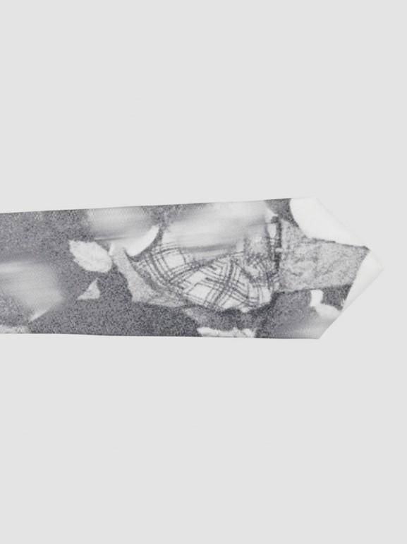 Classic Cut Rave Print Silk Tie in Monochrome - Men | Burberry United Kingdom - cell image 1