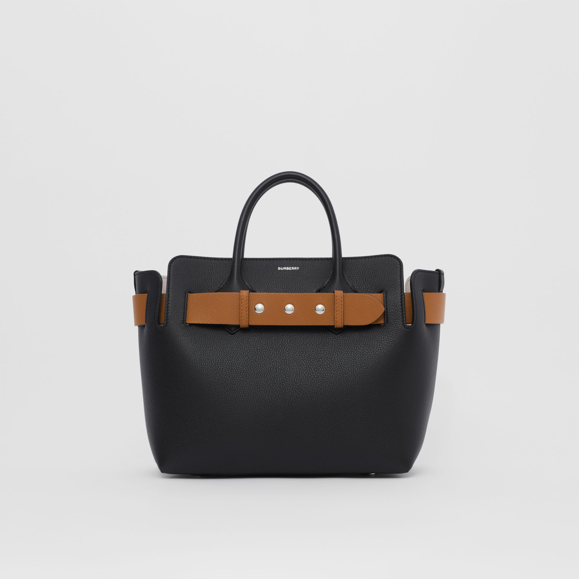 The Small Leather Triple Stud Belt Bag in Black - Women | Burberry Canada - gallery image 0