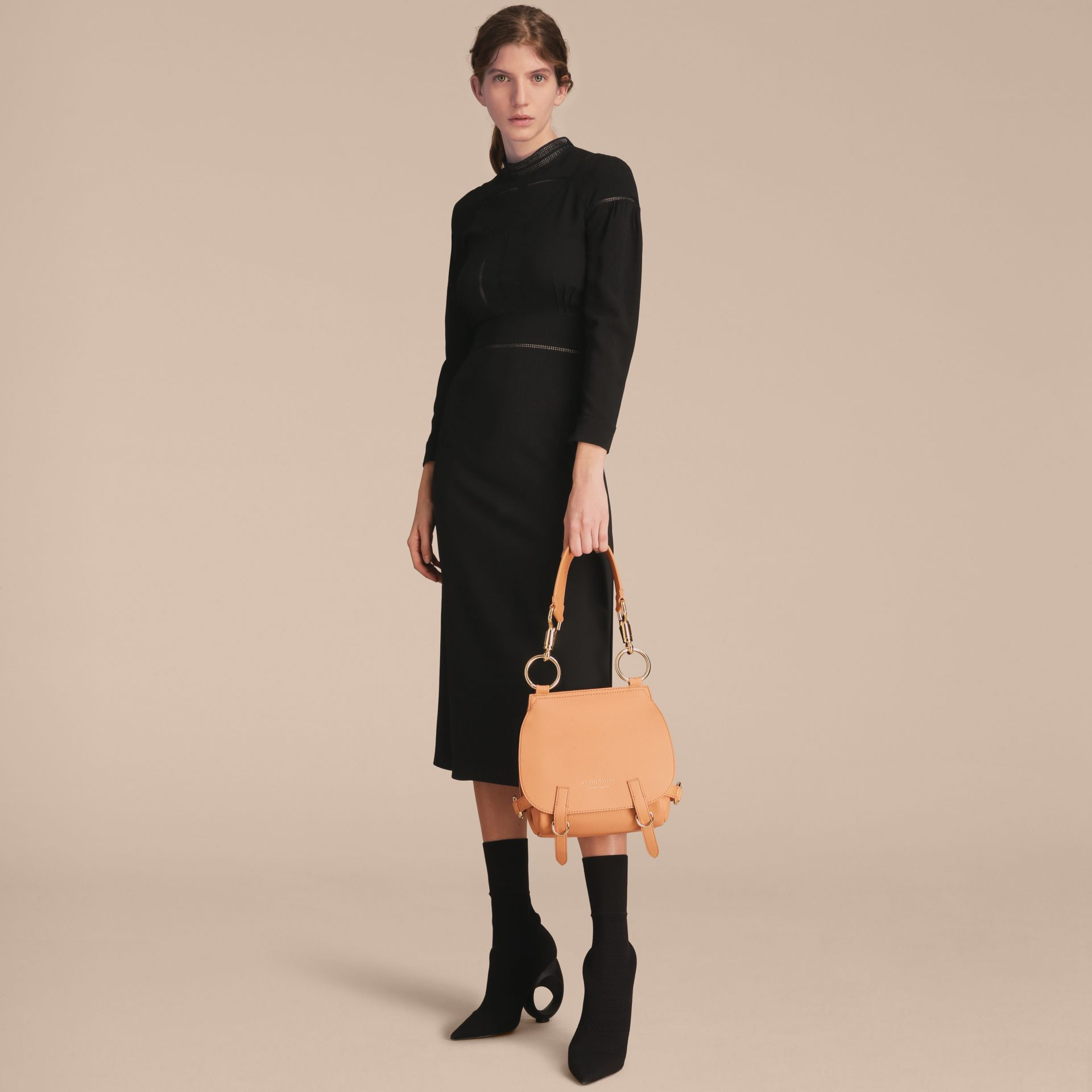 The Bridle Bag in Deerskin in Pale Clementine - Women | Burberry - gallery image 3