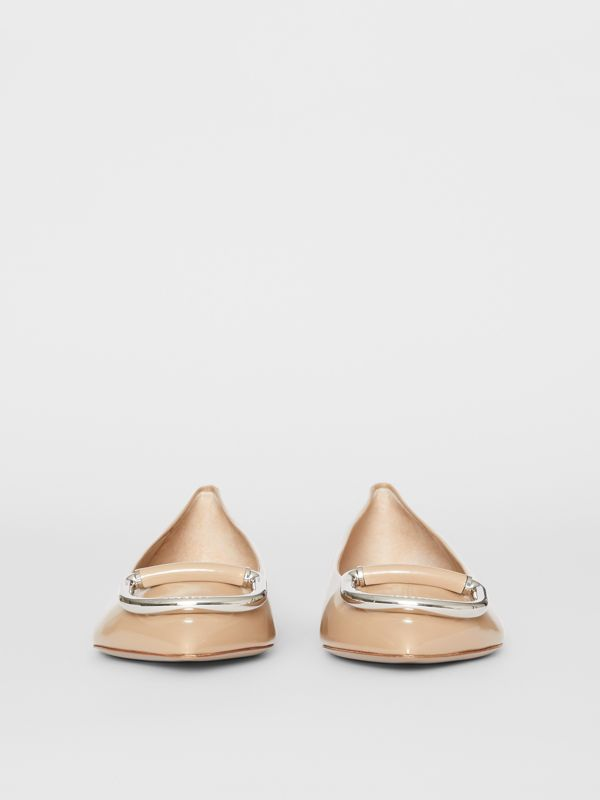 The Leather D-ring Flat in Nude Blush - Women | Burberry - cell image 2