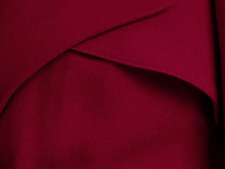 Garnet Buckle Detail Satin-back Crepe Trench Dress Garnet - cell image 1