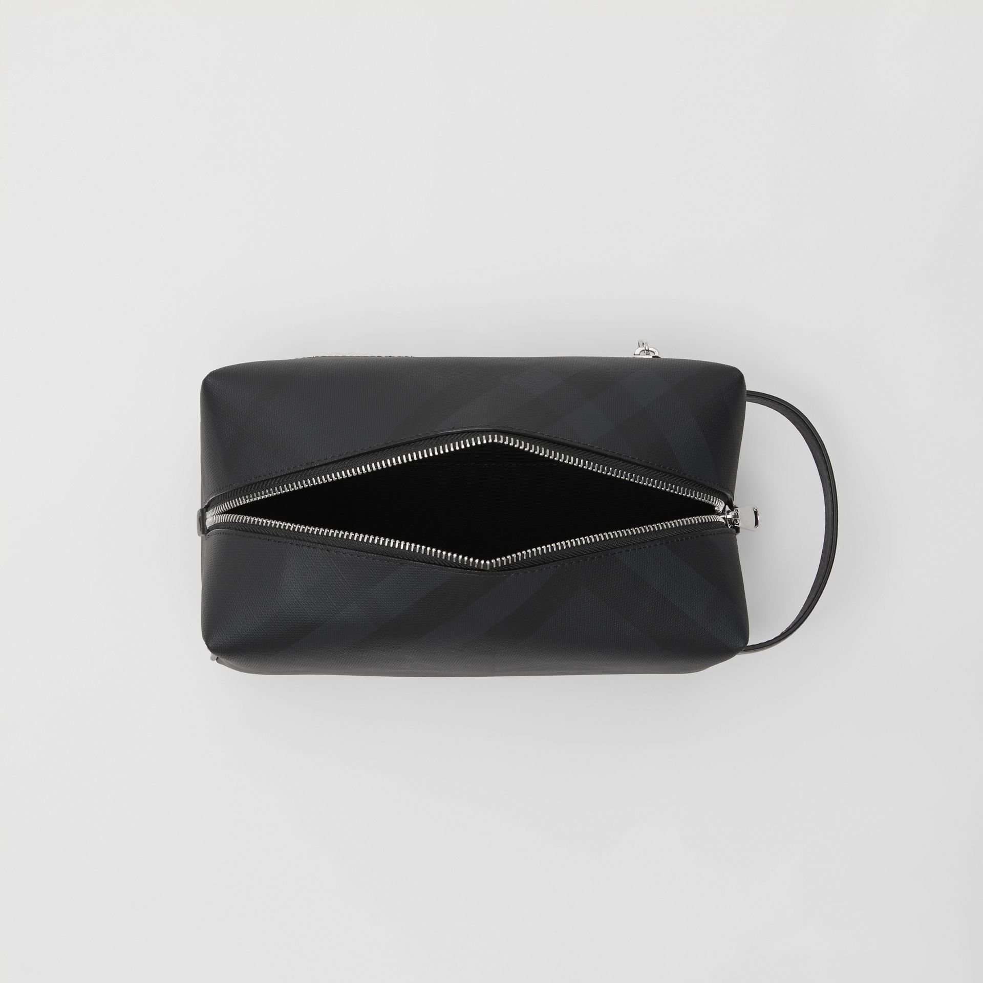 Pochette en cuir London Check (Anthracite Sombre) - Homme | Burberry Canada - photo de la galerie 4