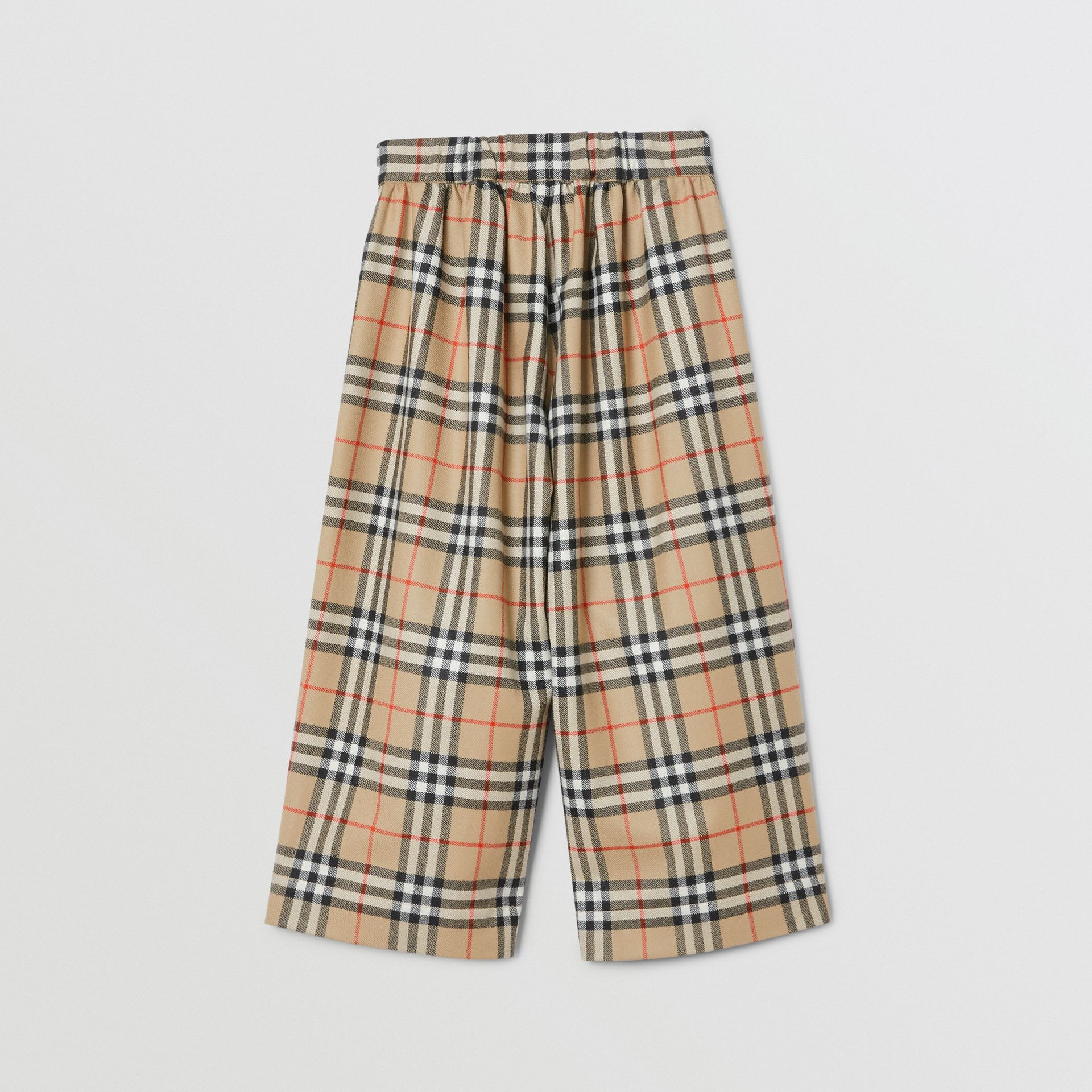 Vintage Check Wool Sailor Trousers in Archive Beige | Burberry - gallery image 3