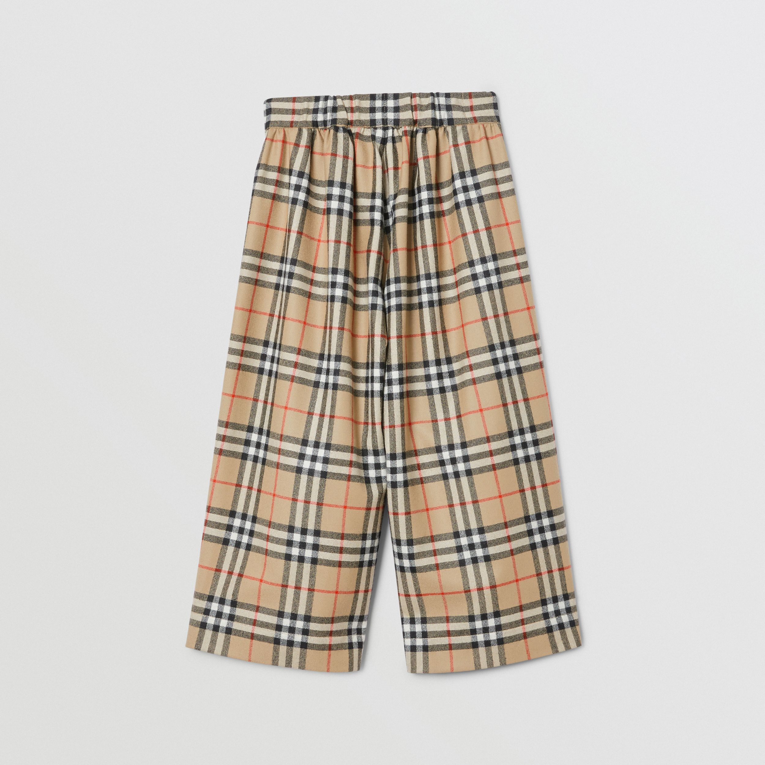 Vintage Check Wool Sailor Trousers in Archive Beige | Burberry - 4
