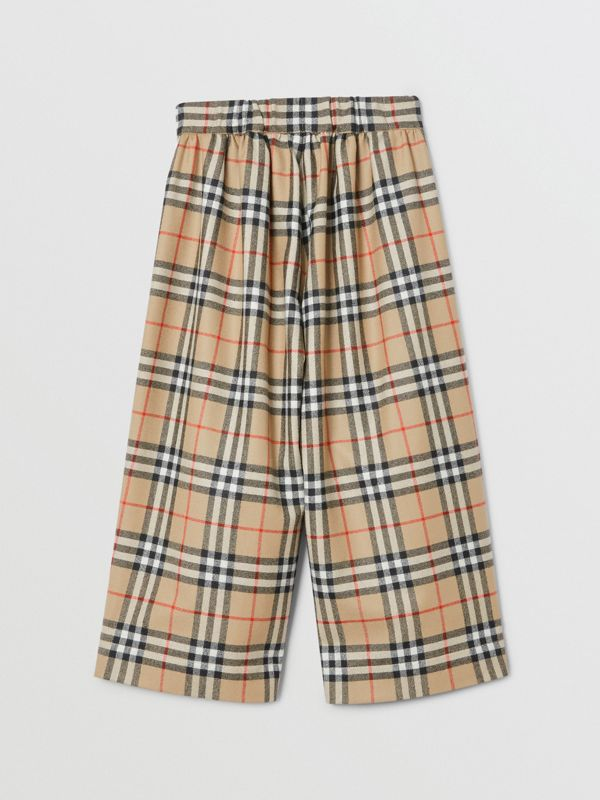 Vintage Check Wool Sailor Trousers in Archive Beige | Burberry - cell image 3