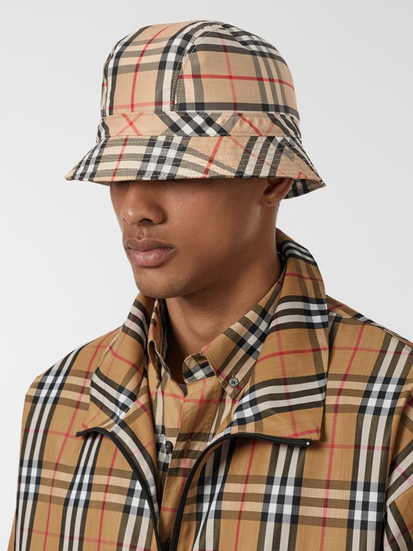 Vintage Check Bucket Hat in Archive Beige | Burberry Singapore - cell image 3