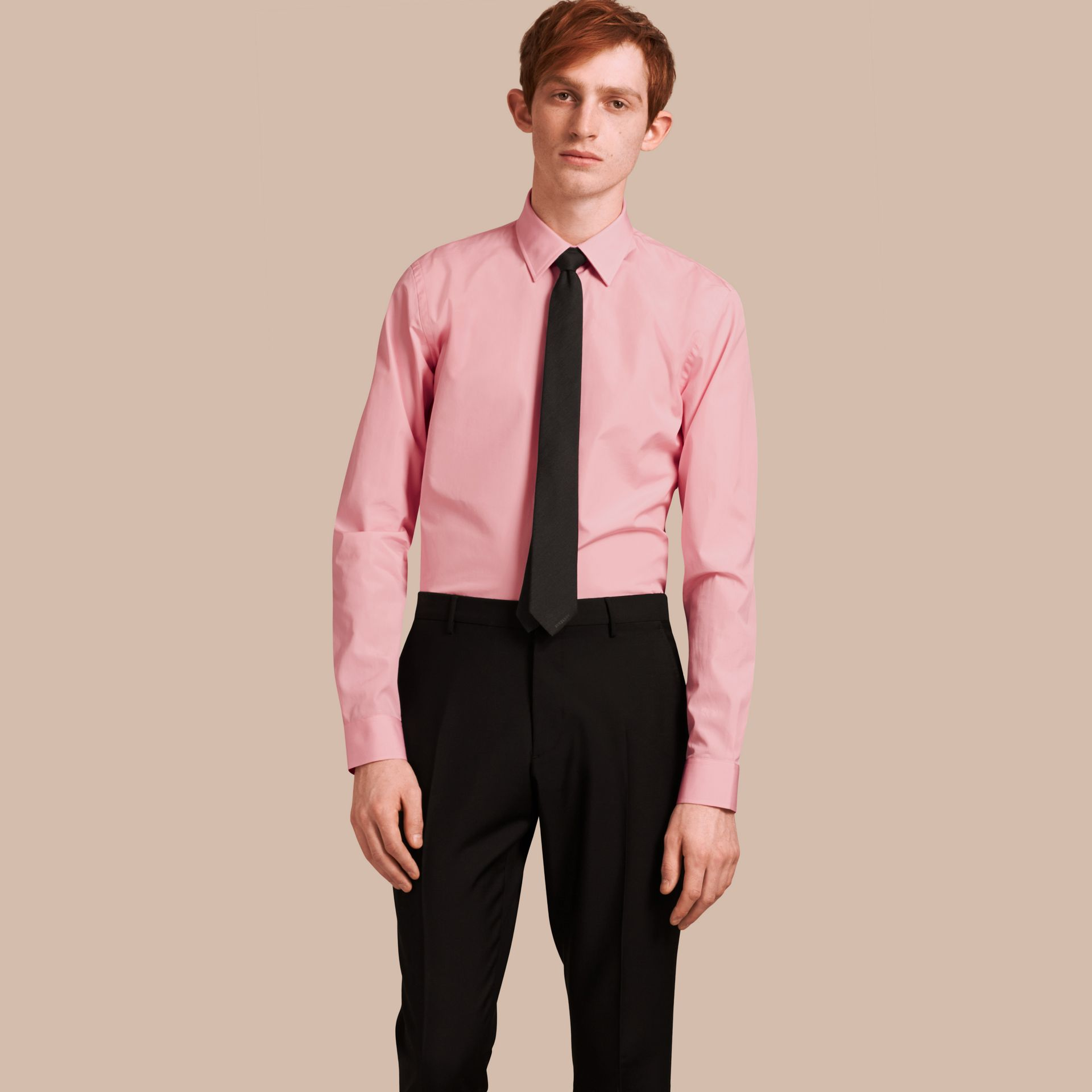 City pink Slim Fit Cotton Poplin Shirt City Pink - gallery image 1