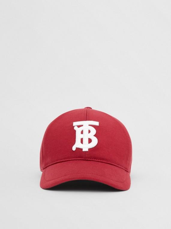 Monogram Motif Jersey Baseball Cap in Dark Carmine