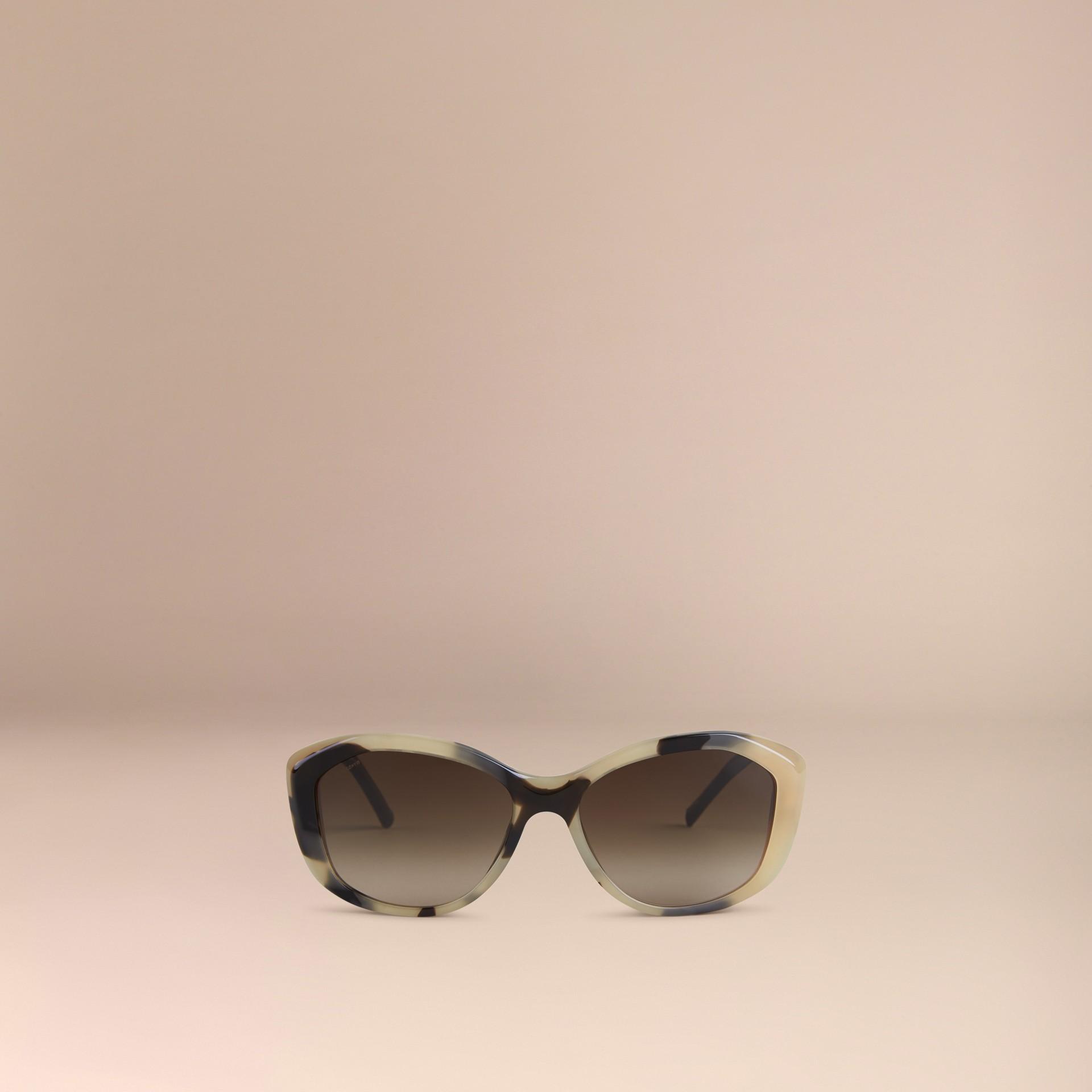 Tartarugato tonalità media Occhiali da sole con montatura quadrata collezione Pizzo di Gabardine Tartarugato Tonalità Media - immagine della galleria 2