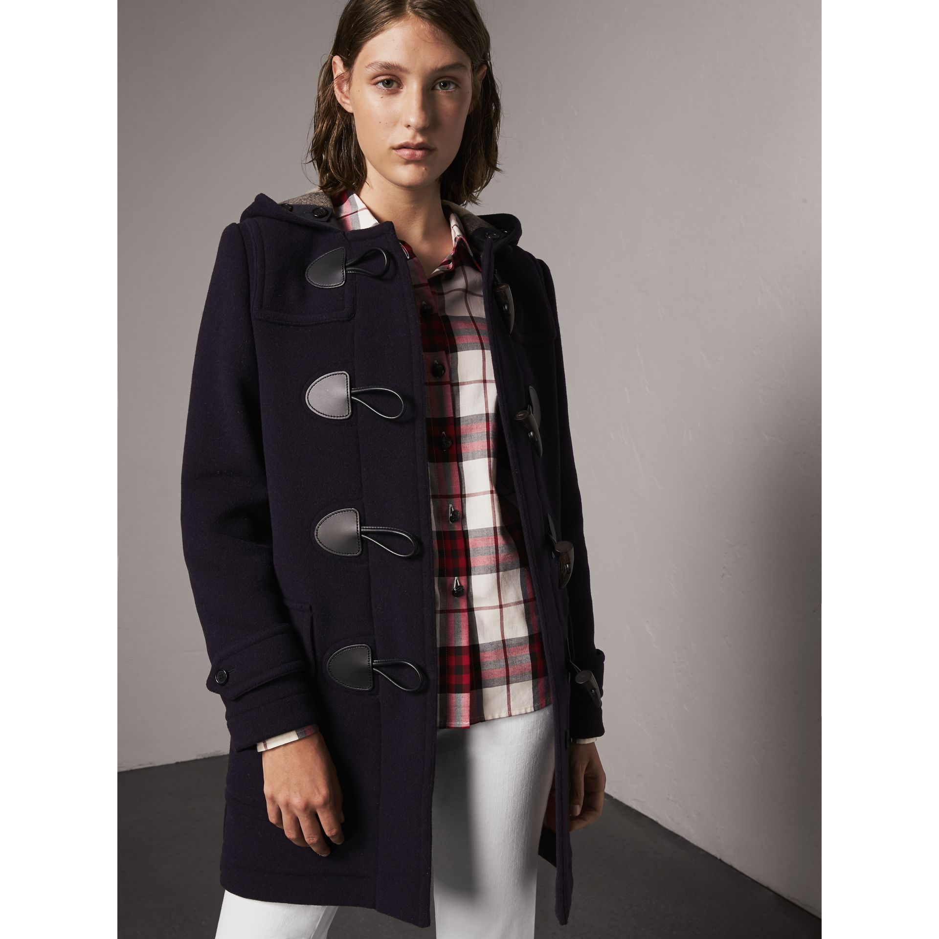 The Mersey Duffle Coat in Navy - Women | Burberry - gallery image 6