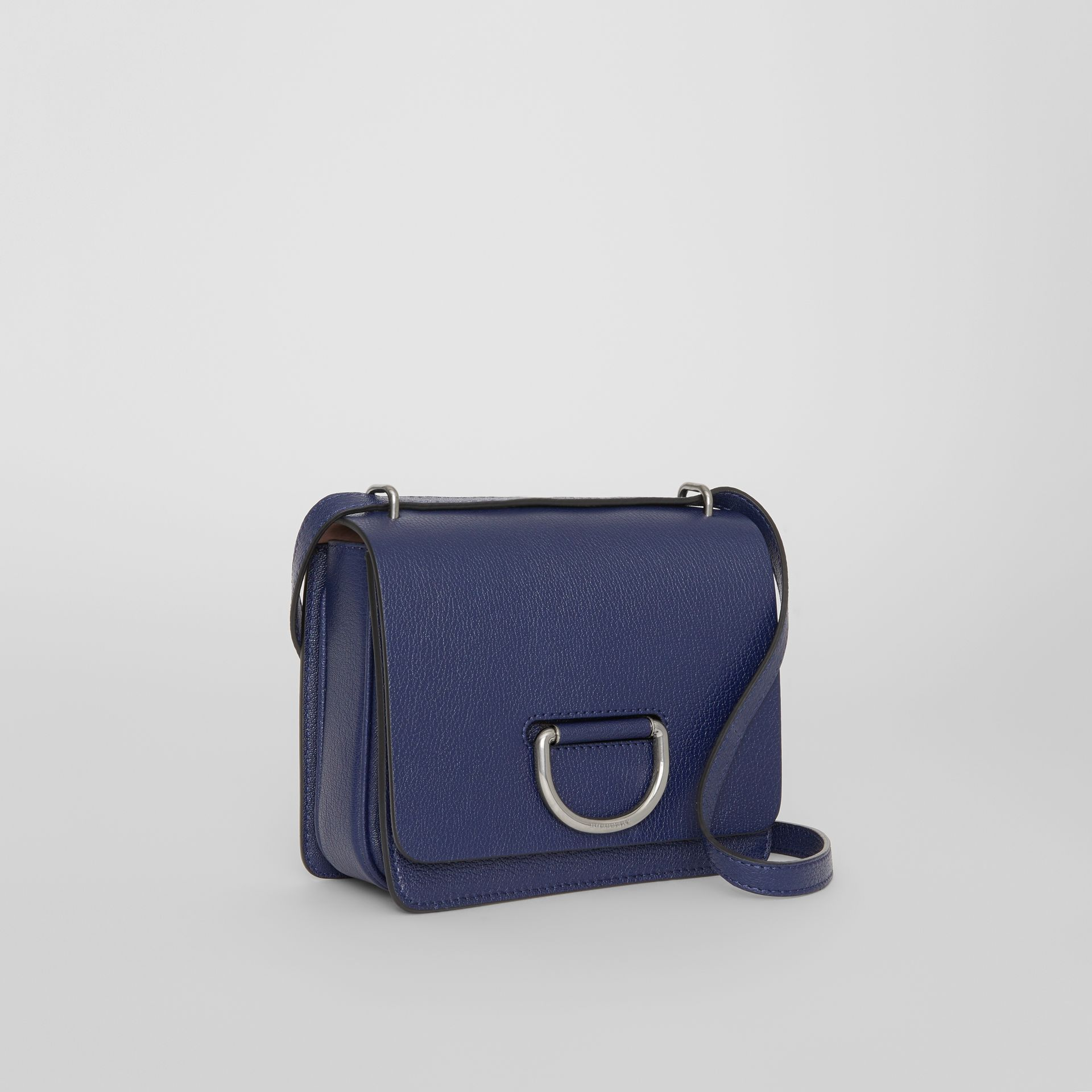 The Small Leather D-ring Bag in Regency Blue - Women | Burberry - gallery image 6