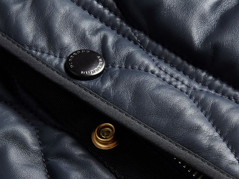 Navy Quilted Lambskin Jacket - cell image 1