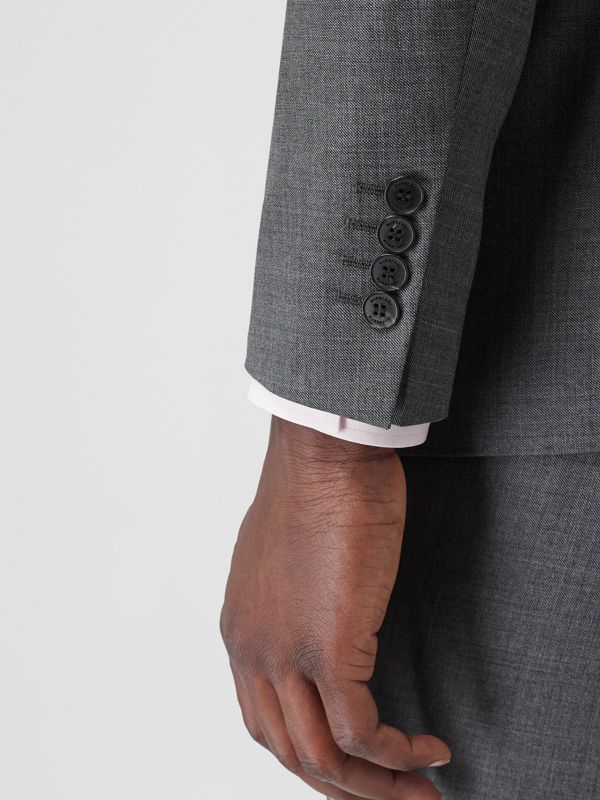 Classic Fit Sharkskin Wool Suit in Mid Grey Melange - Men | Burberry United Kingdom - cell image 3