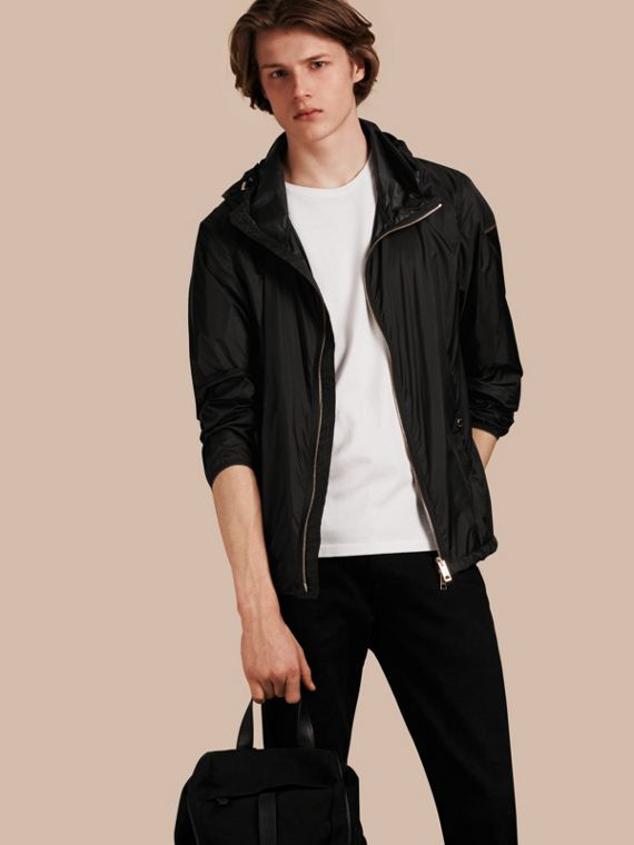 Ultra-lightweight Jacket with Hood Black
