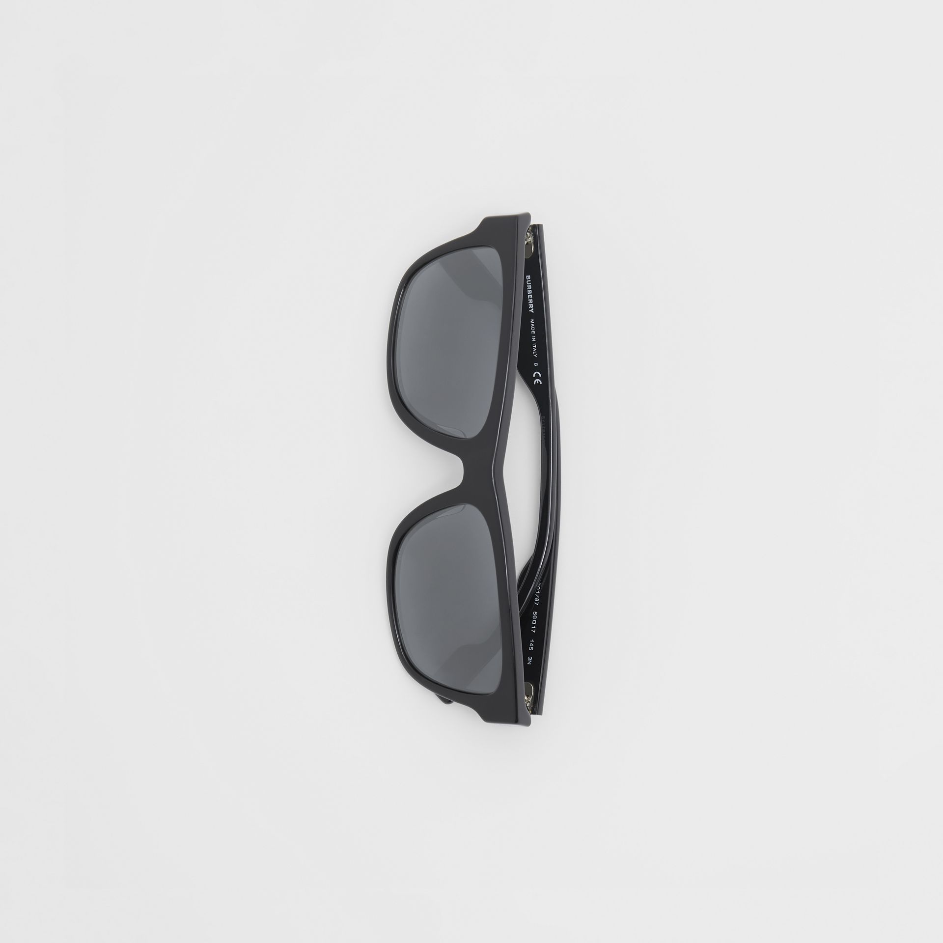 Square Frame Sunglasses in Black - Men | Burberry - gallery image 3