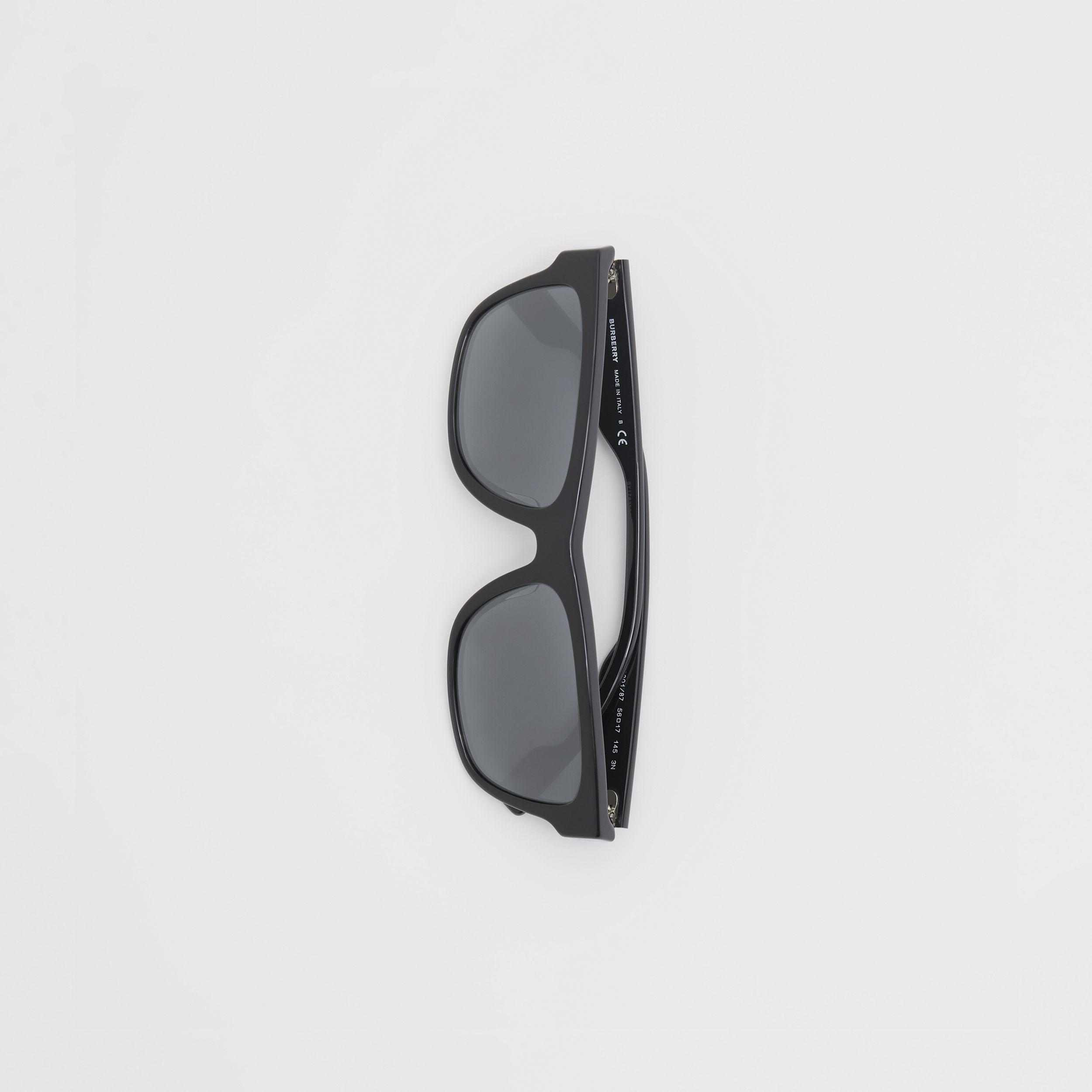 Square Frame Sunglasses in Black - Men | Burberry - 4