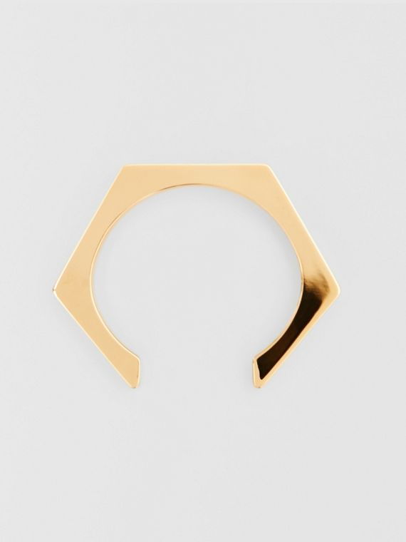 Gold-plated Nut Cuff in Light