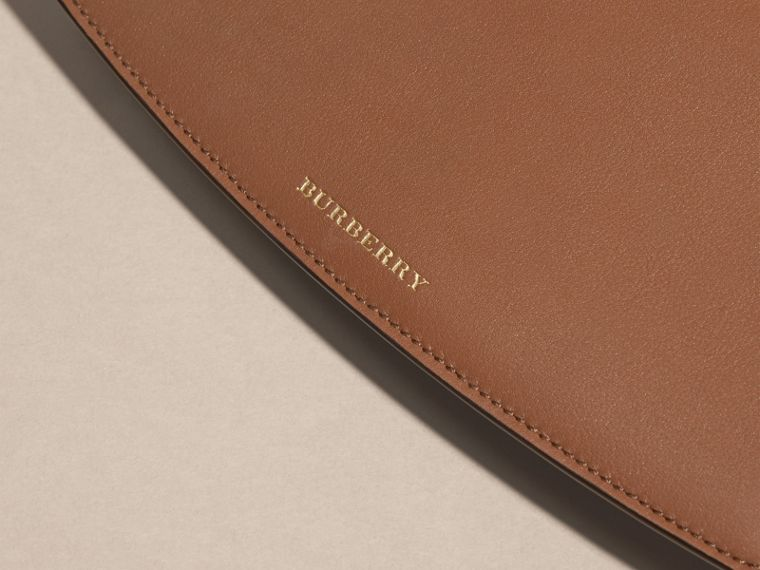 Horseferry Check and Leather Wallet with Chain in Tan - Women | Burberry - cell image 1