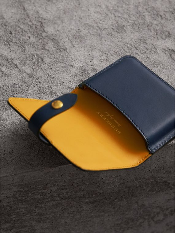 Equestrian Shield Leather Card Case in Mid Indigo | Burberry Australia - cell image 3