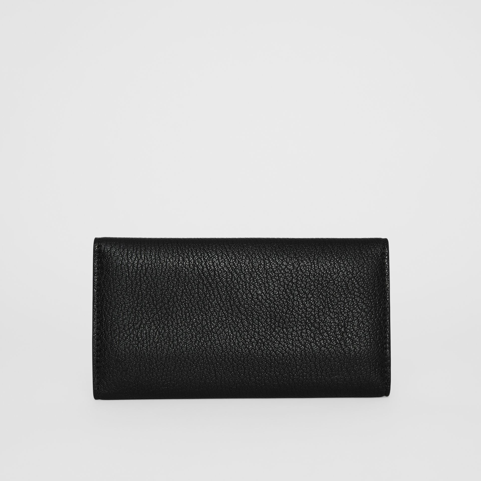 D-ring Grainy Leather Continental Wallet in Black - Women | Burberry - gallery image 2