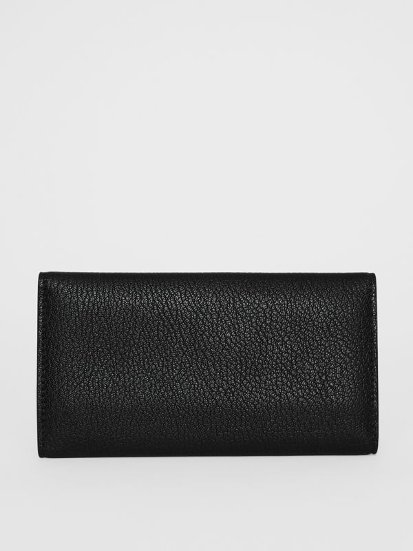 D-ring Grainy Leather Continental Wallet in Black - Women | Burberry Australia - cell image 2