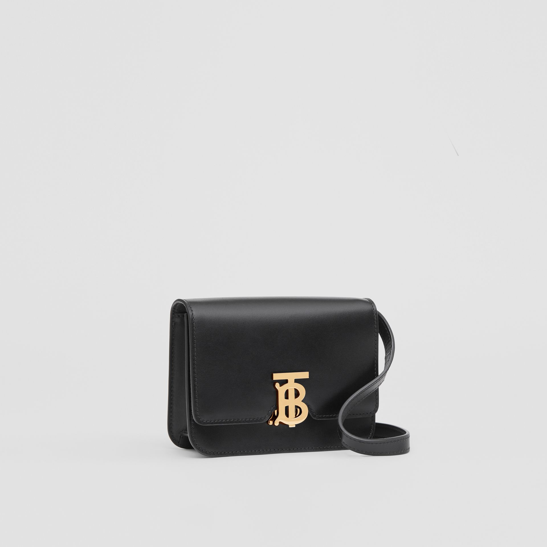 Mini Leather TB Bag in Black - Women | Burberry United States - gallery image 6