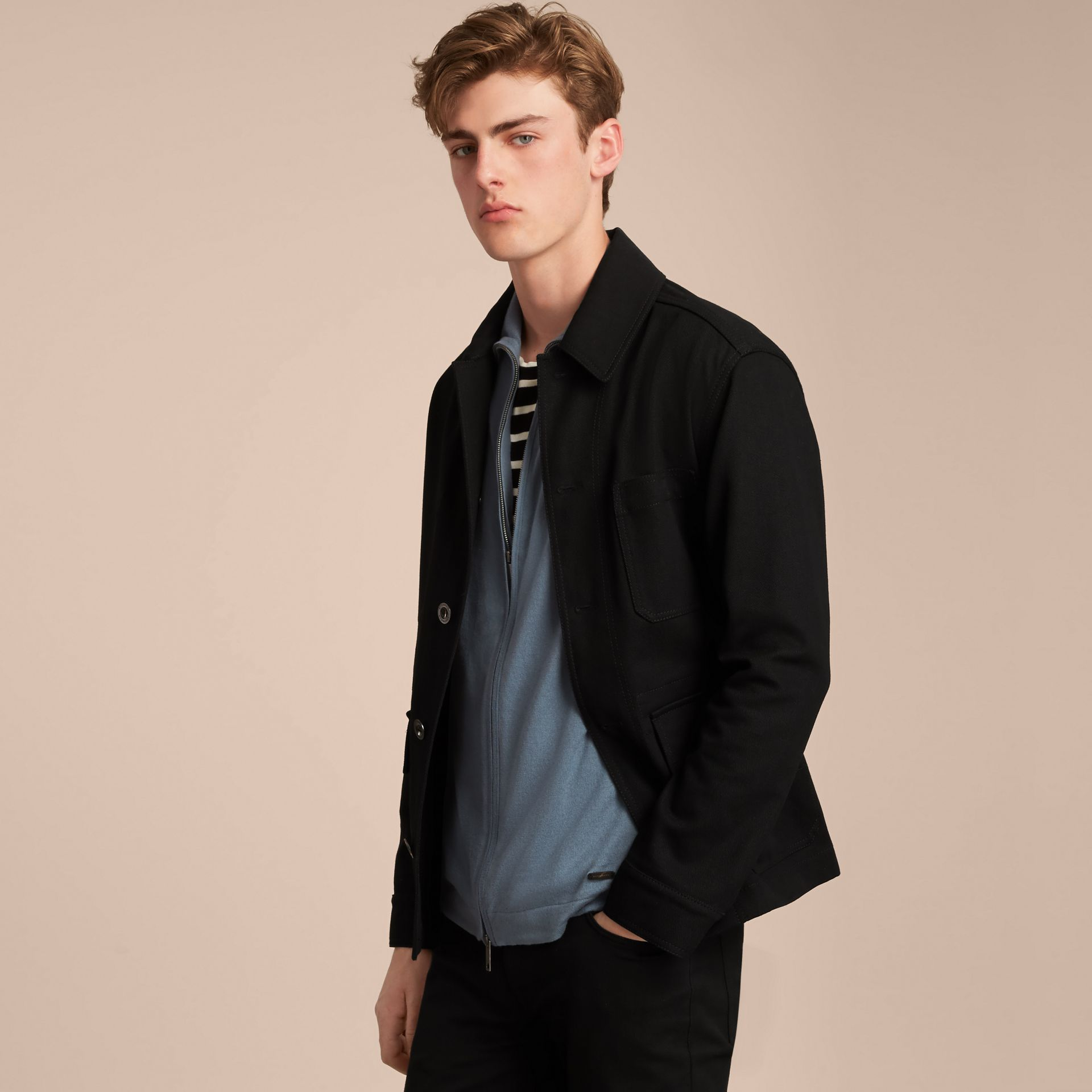 Cotton Cashmere Zip-front Top - Men | Burberry - gallery image 7