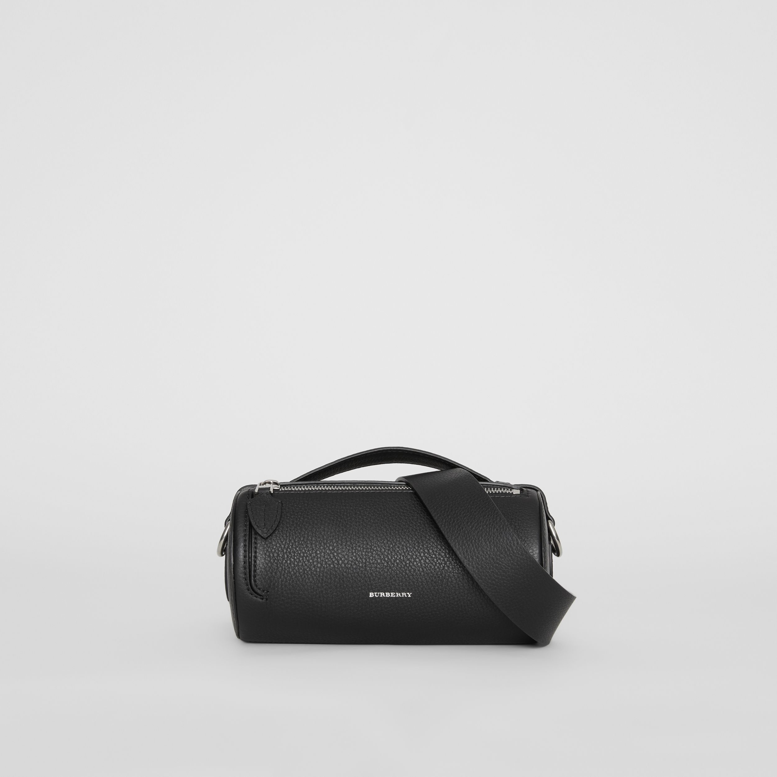 The Leather Barrel Bag in Black - Women | Burberry - 1
