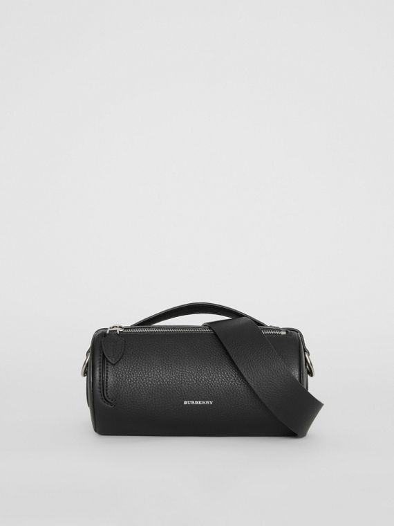 The Leather Barrel Bag in Black