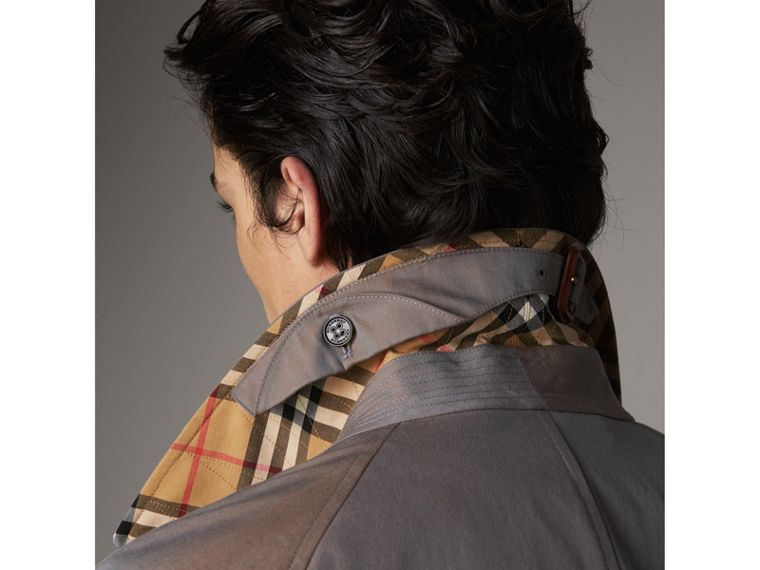 The Brighton – Car Coat extralongo – Exclusividade online (Cinza Lilás) - Homens | Burberry - cell image 1