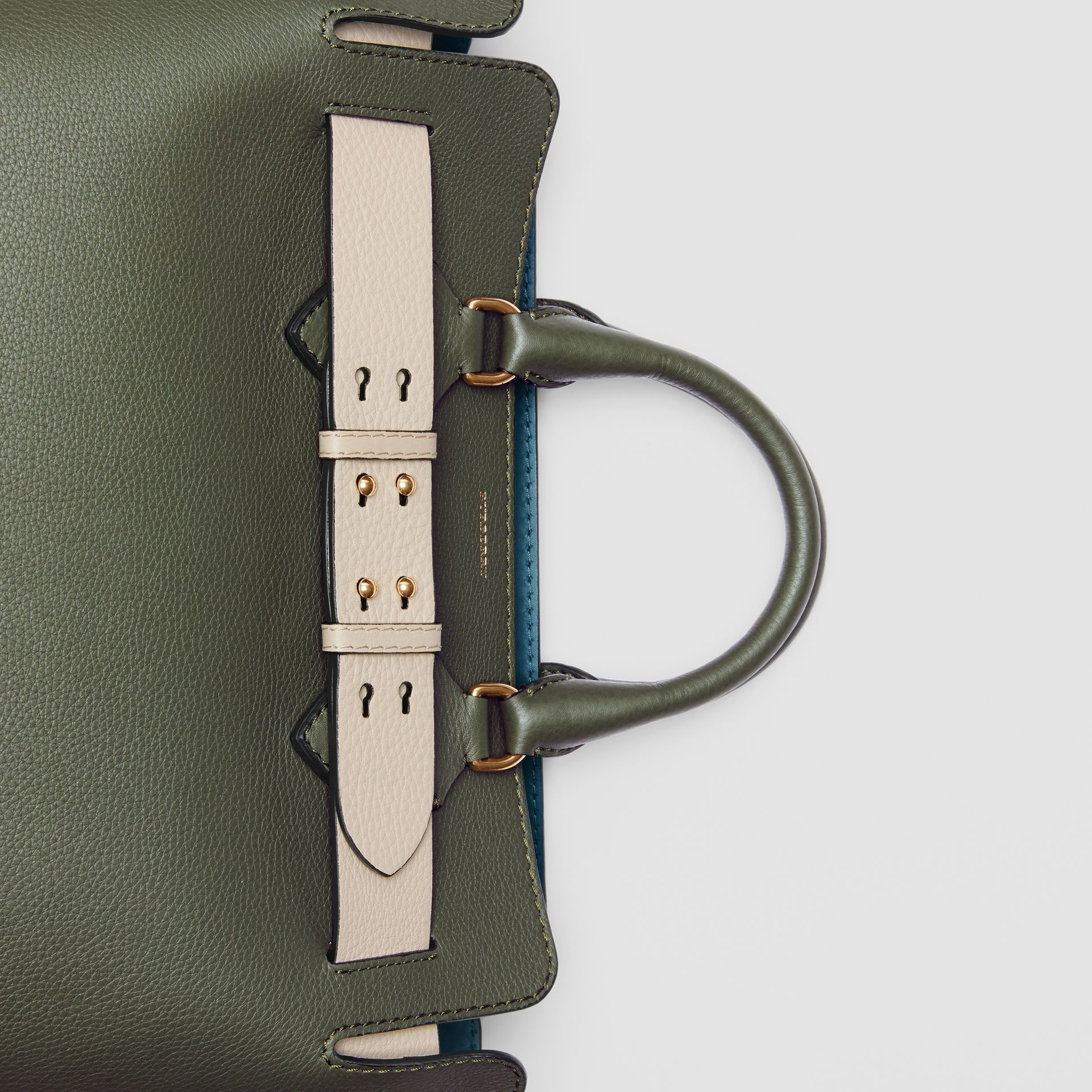The Medium Leather Belt Bag in Sage Green - Women | Burberry United Kingdom - gallery image 1