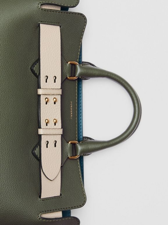 The Medium Leather Belt Bag in Sage Green - Women | Burberry United Kingdom - cell image 1