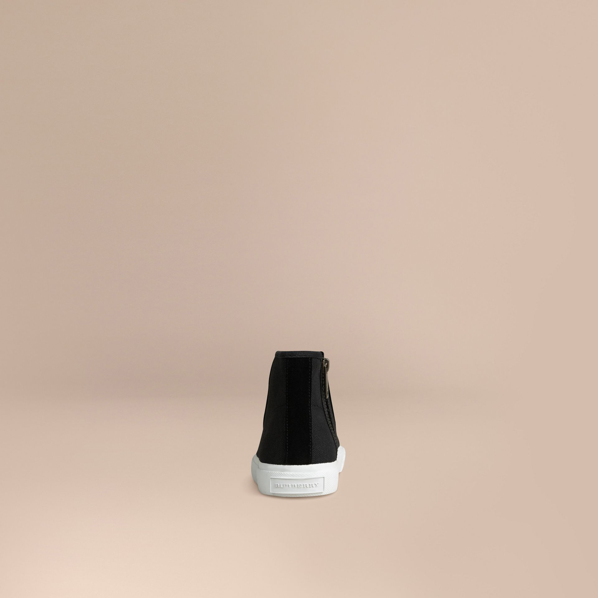 High-top Canvas Trainers | Burberry - gallery image 3