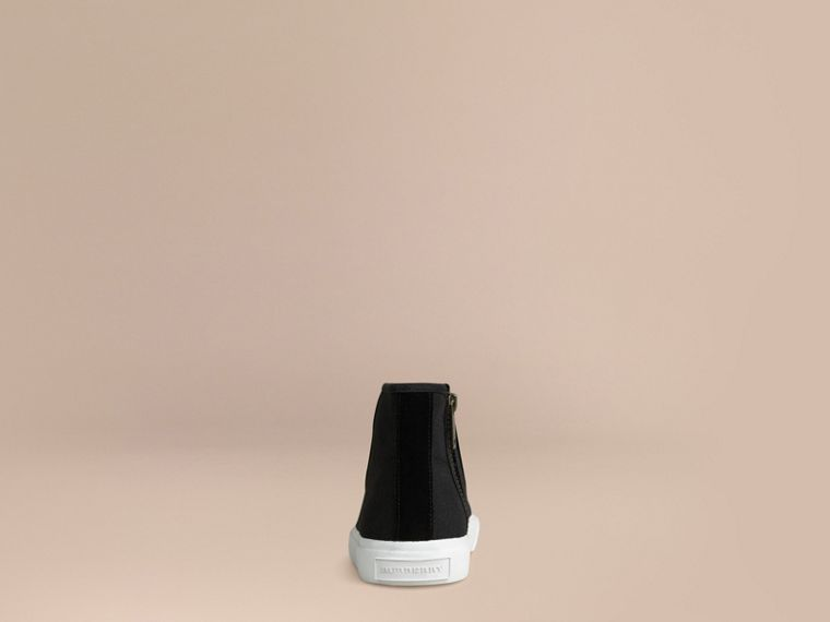 High-top Canvas Trainers | Burberry - cell image 2