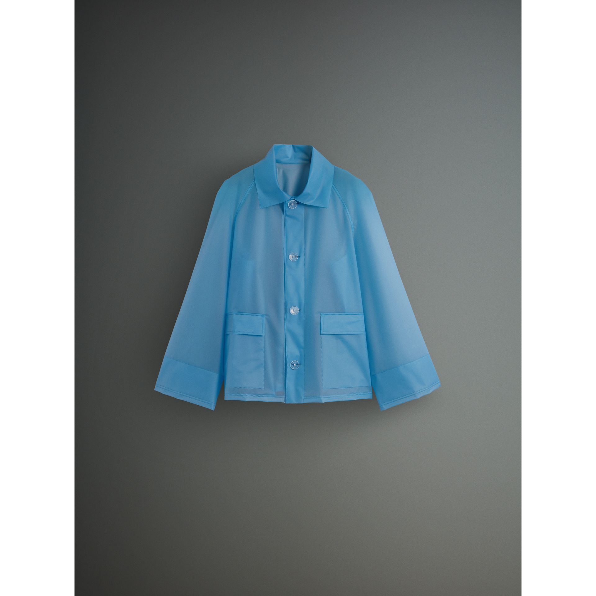 Soft-touch Plastic Jacket in Sky Blue - Men | Burberry - gallery image 3