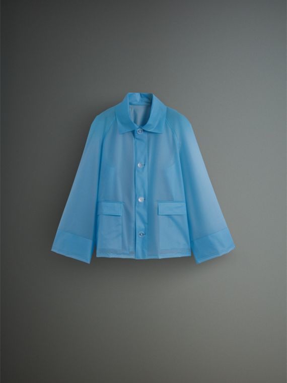 Soft-touch Plastic Jacket in Sky Blue - Men | Burberry Canada - cell image 3