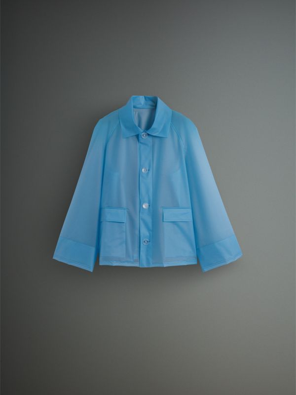 Soft-touch Plastic Jacket in Sky Blue - Men | Burberry - cell image 3