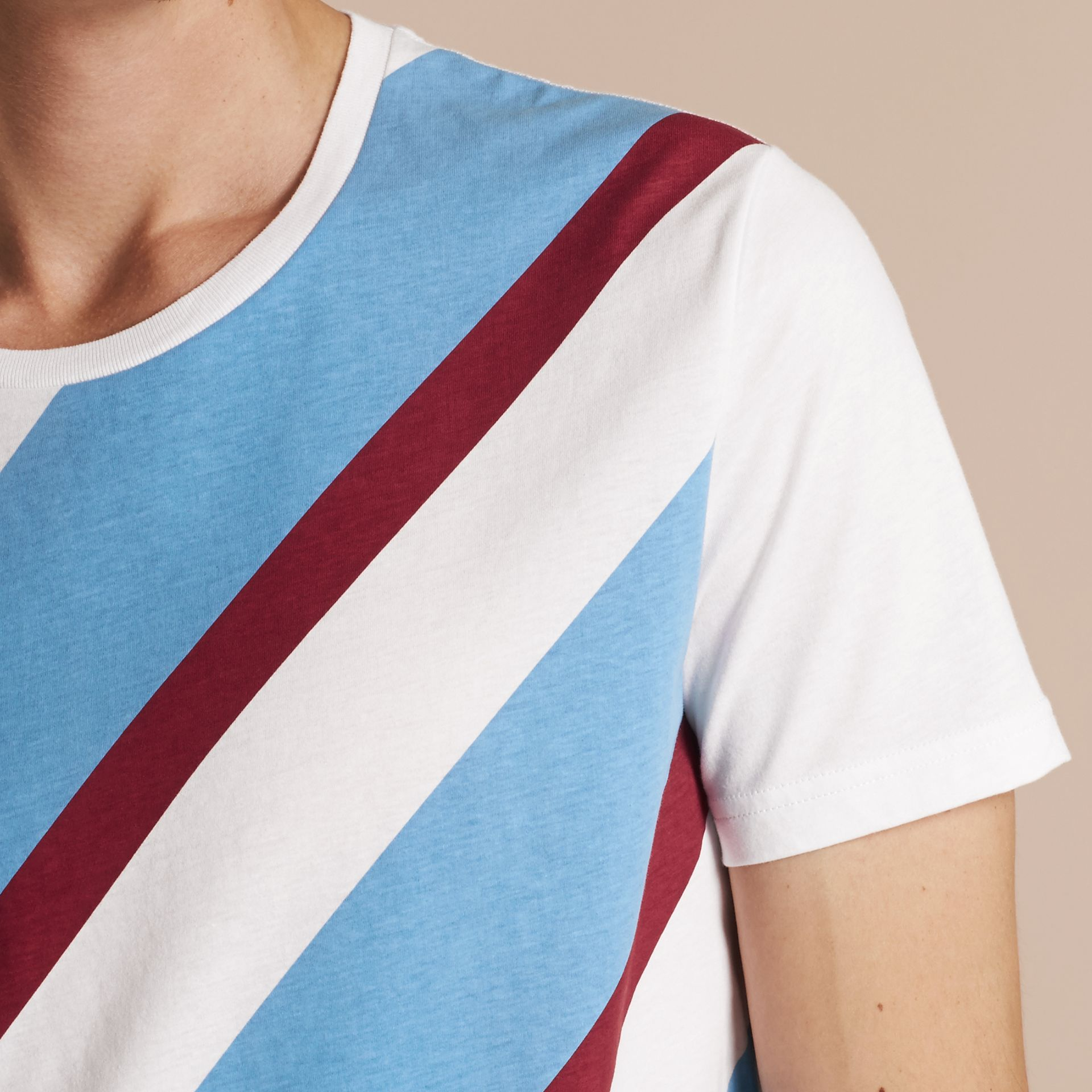 Abstract Check Print Cotton T-shirt - gallery image 5