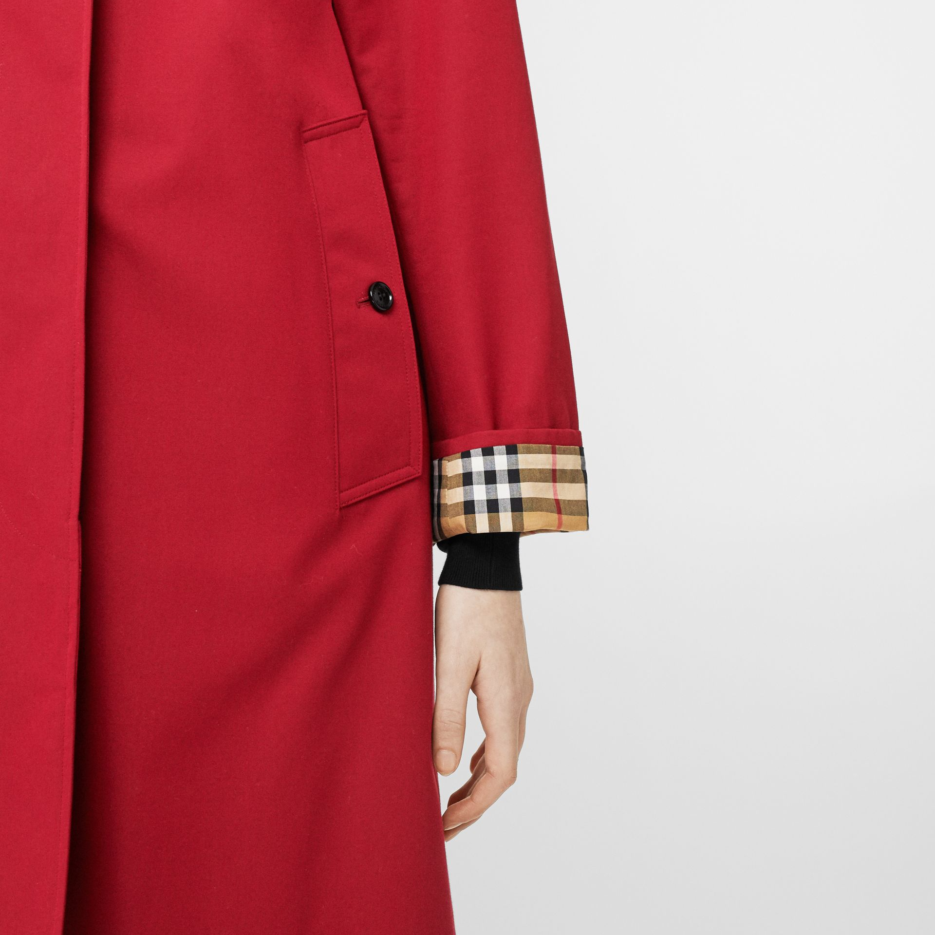 The Camden Car Coat in Parade Red - Women | Burberry - gallery image 6