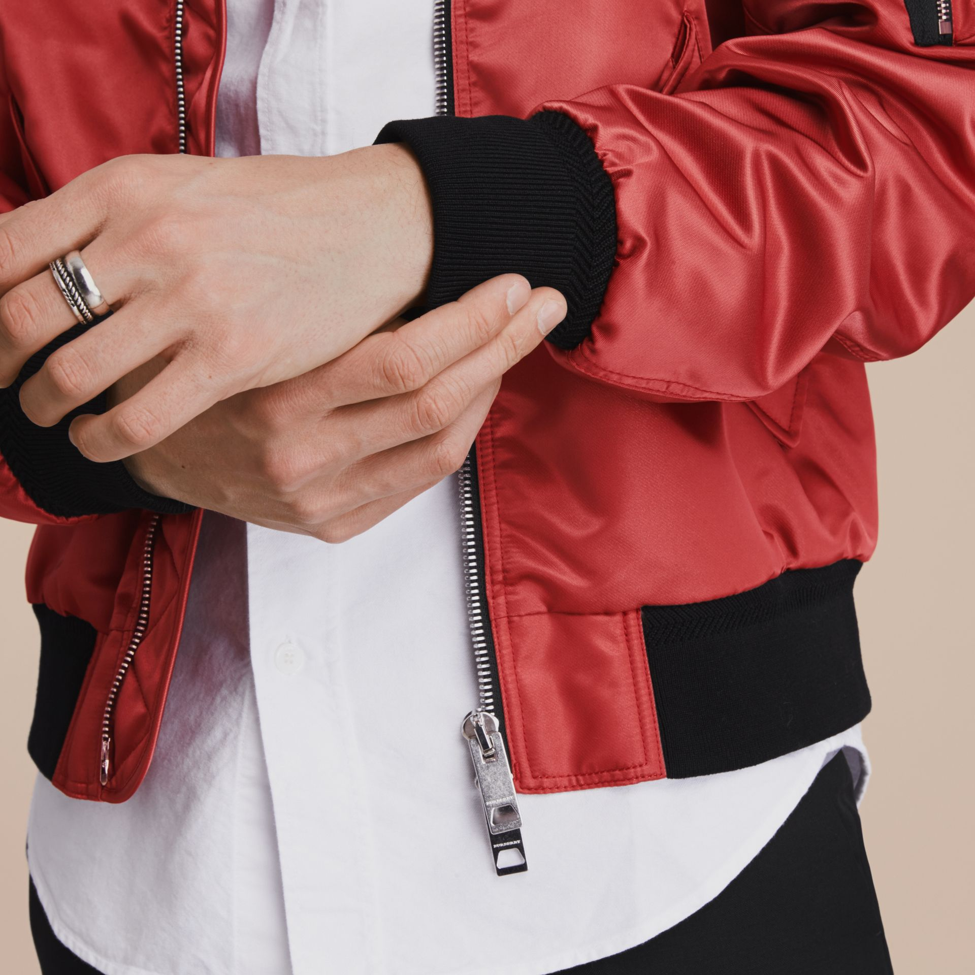 Technical Bomber Jacket in Rose Pink - gallery image 6