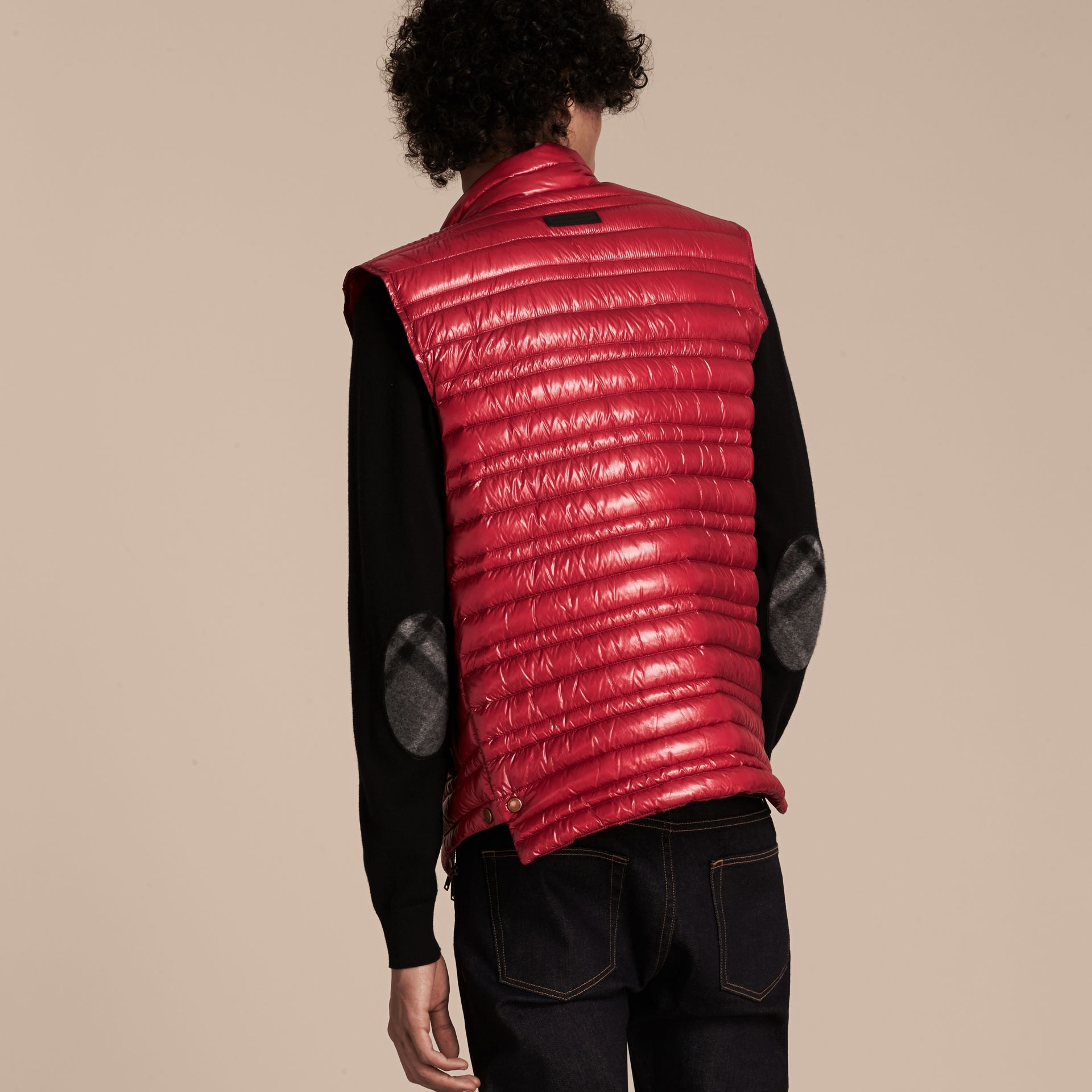 Parade red Lightweight Down-filled Gilet Parade Red - gallery image 3