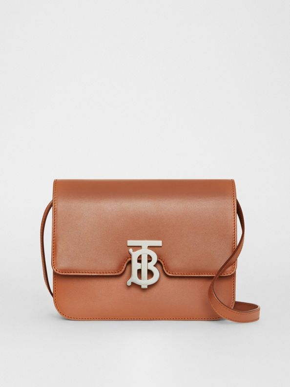 Kleine TB Bag aus Leder (Malzbraun)