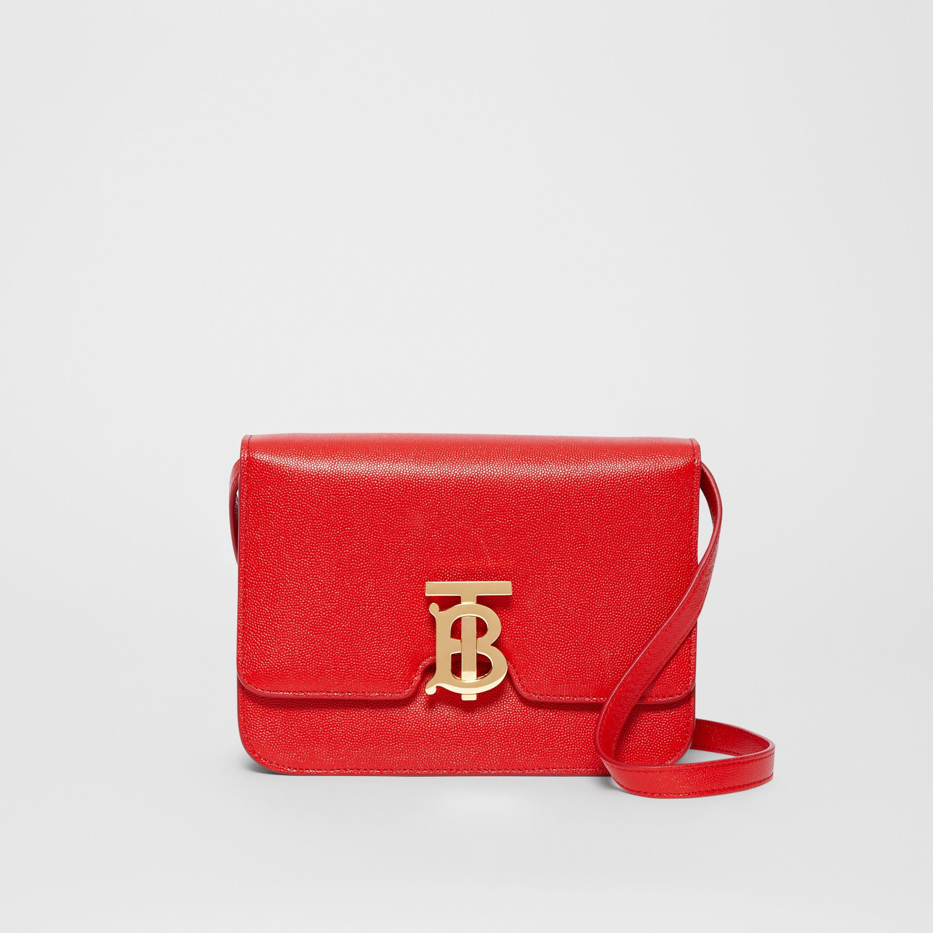 Small Grainy Leather TB Bag in Bright Red - Women | Burberry Australia - gallery image 0