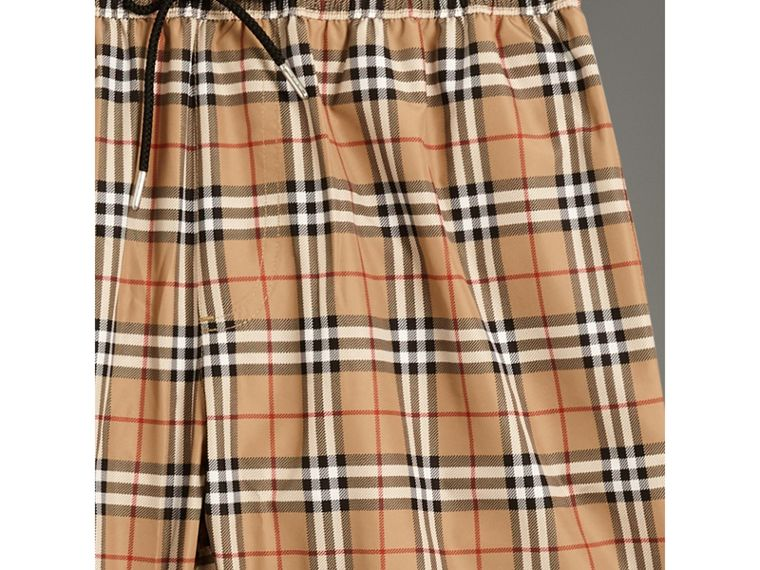 Vintage Check Drawcord Swim Shorts in Camel - Men | Burberry United Kingdom - cell image 1