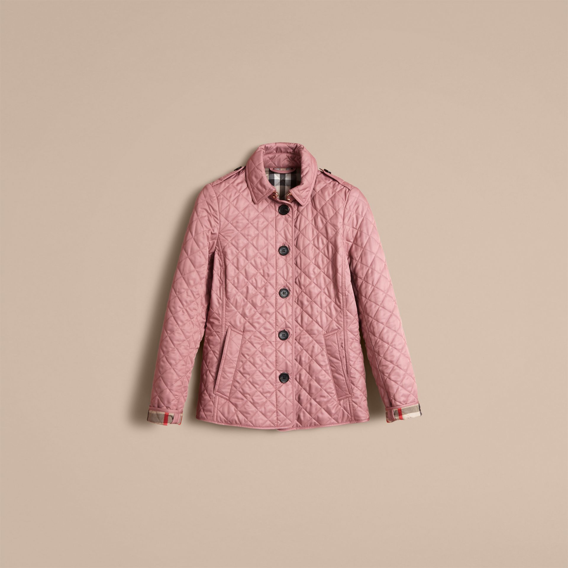 Diamond Quilted Jacket in Vintage Rose - gallery image 4