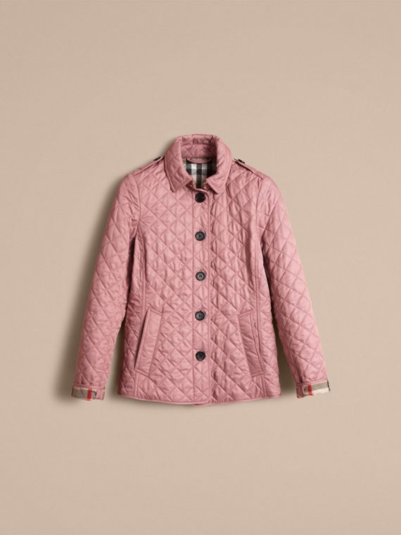 Diamond Quilted Jacket in Vintage Rose - cell image 3