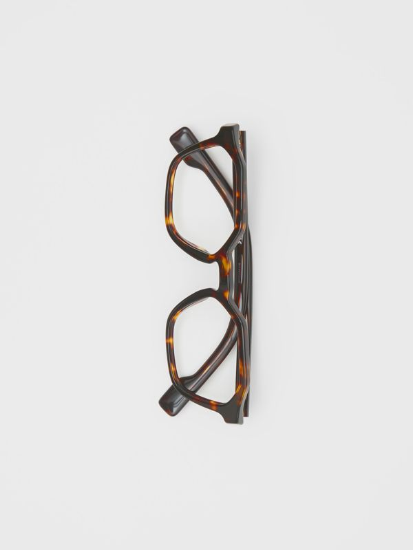 Geometric Optical Frames in Tortoiseshell - Women | Burberry Singapore - cell image 3