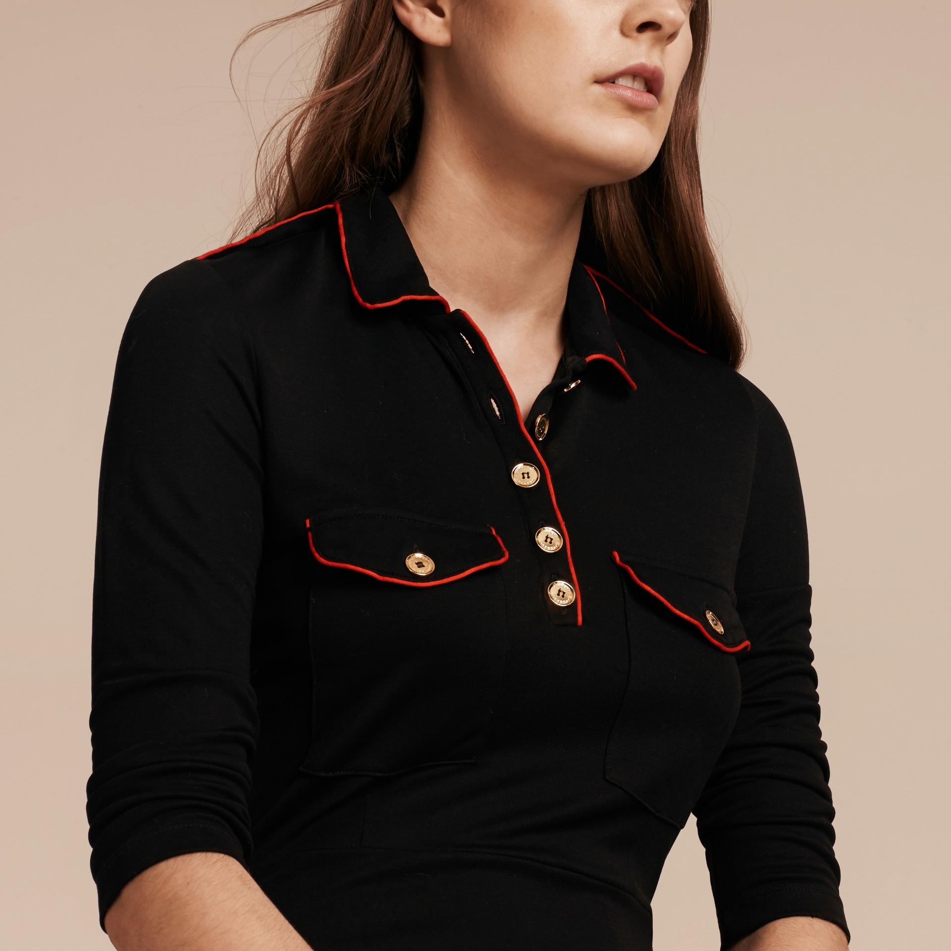 Black Military Shirt Dress - gallery image 5