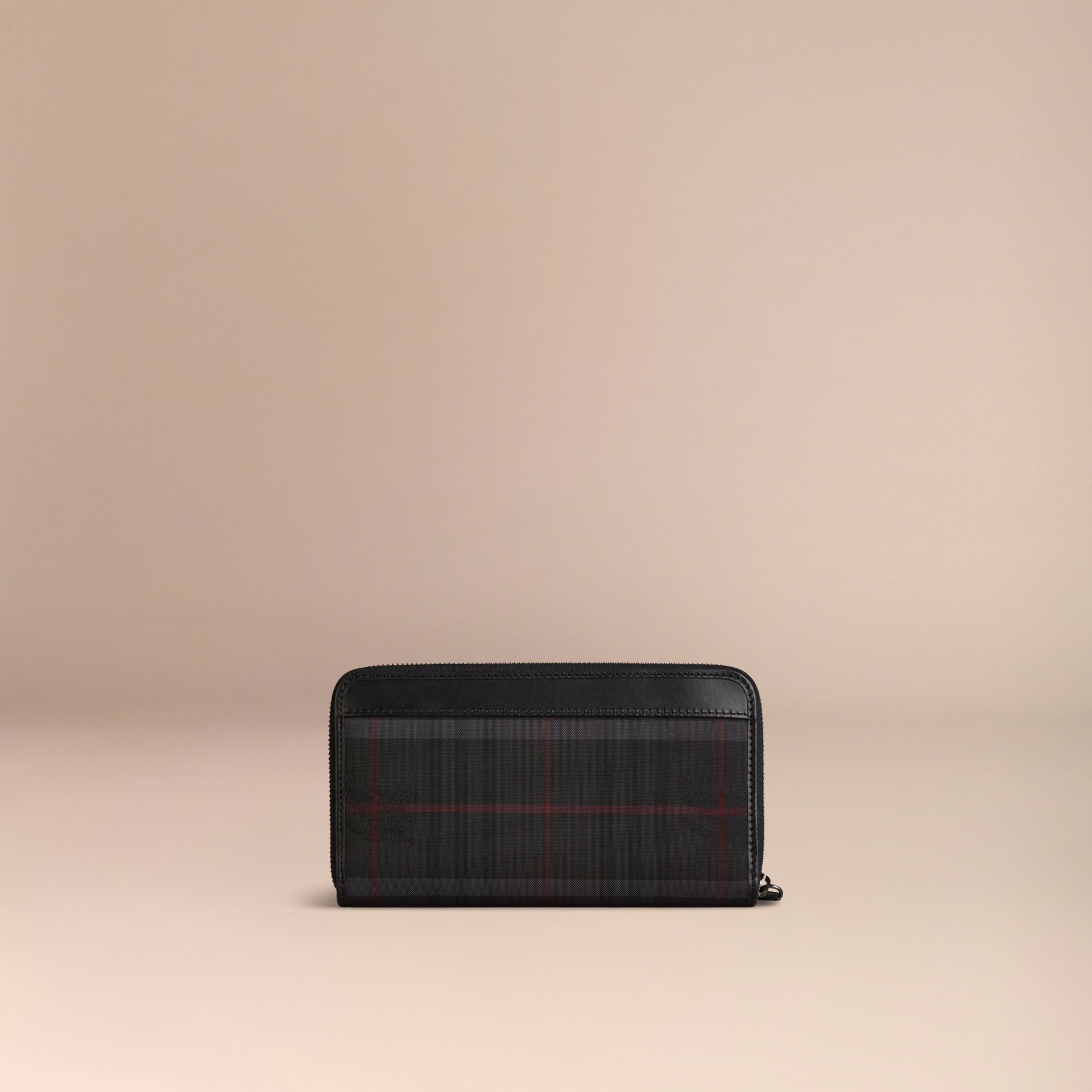 Horseferry Check Ziparound Wallet Charcoal/black - gallery image 3